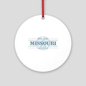Missouri Round Ornament