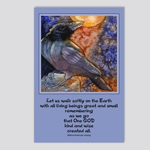 """""""Walk softly.."""" Postcards (Package of 8)"""