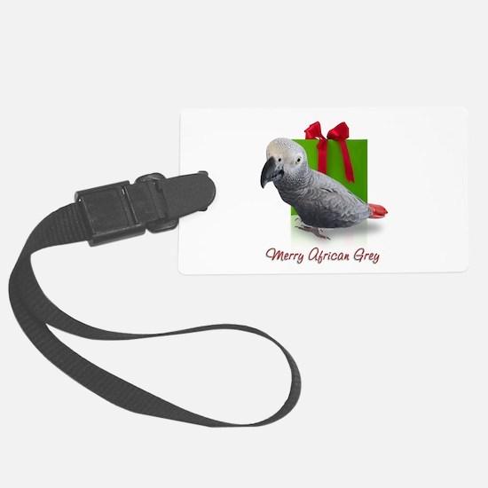 African Grey Holiday Luggage Tag