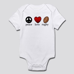 Rugby Peace Love Rugby Infant Bodysuit