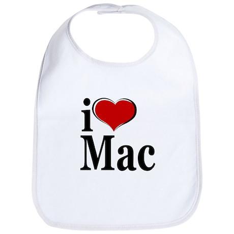 I Love Mac! Bib