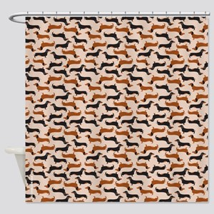 Dachshund Tan Shower Curtain