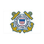 US Coast Guard 35X21 Wall Decal