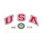 USA USCG Flags 35X21 Wall Decal