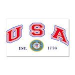 USA USCG Flags Car Magnet 20 x 12