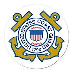 US Coast Guard Round Car Magnet