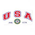 USA USCG Flags Aluminum License Plate