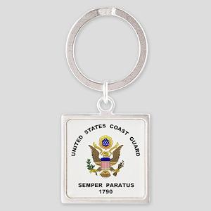 Semper Paratus Square Keychain