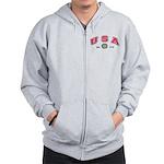 USA USCG Flags Zip Hoodie