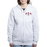 USA USCG Flags Women's Zip Hoodie