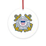 US Coast Guard Ornament (Round)