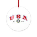 US Coast Guard USA Ornament (Round)