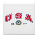 USA USCG Flags Tile Coaster