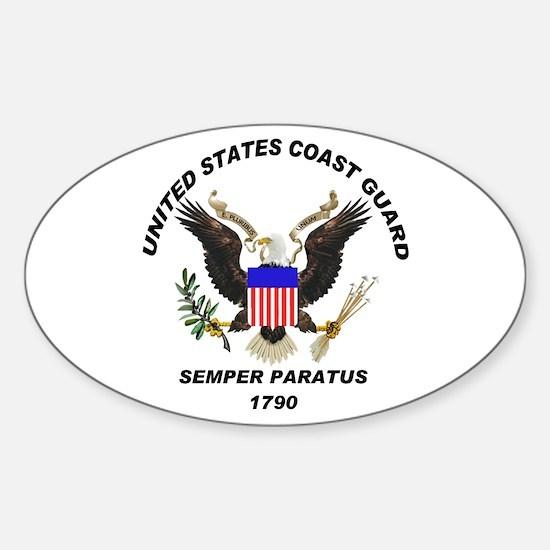 Semper Paratus Oval Decal