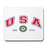 USA USCG Flags Mousepad