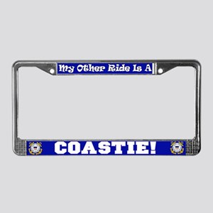 My Other Ride is a Coastie License Plate Frame