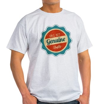 Retro Genuine Quality Since 1972 Light T-Shirt