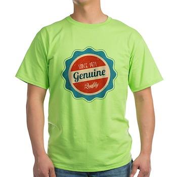 Retro Genuine Quality Since 1971 Light T-Shirt
