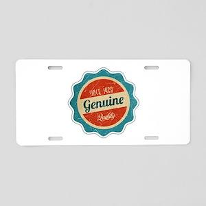 Retro Genuine Quality Since 1968 Aluminum License