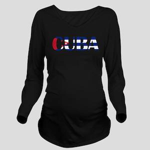 Cuba Logo Long Sleeve Maternity T-Shirt