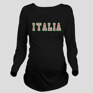 Italia Logo Long Sleeve Maternity T-Shirt