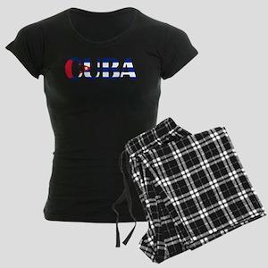 Cuba Logo Women's Dark Pajamas