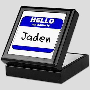 hello my name is jaden Keepsake Box