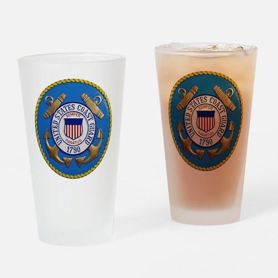USCG Emblem Drinking Glass