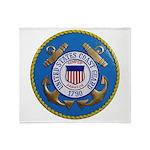 USCG Emblem Throw Blanket
