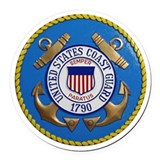 Coast guard Round Car Magnets