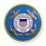 USCG Emblem Round Car Magnet