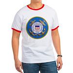USCG Emblem Ringer T