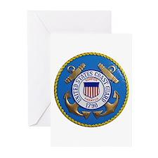 USCG Emblem Greeting Cards (Pk of 10)