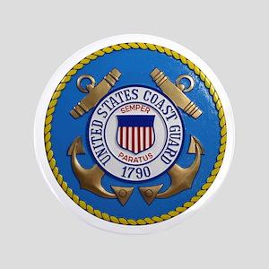 USCG Emblem 3.5&Quot; Button