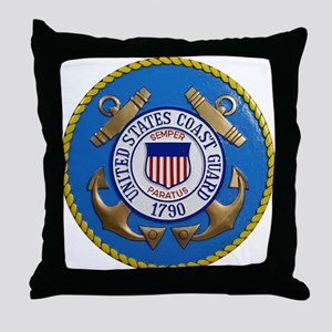 USCG Emblem Throw Pillow