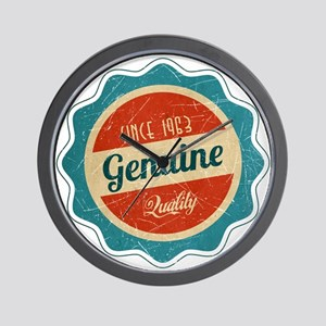 Retro Genuine Quality Since 1963 Wall Clock