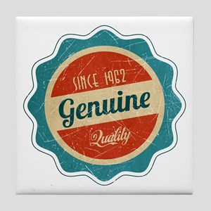 Retro Genuine Quality Since 1962 Tile Coaster