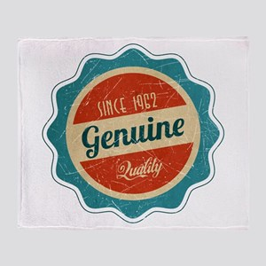 Retro Genuine Quality Since 1962 Throw Blanket