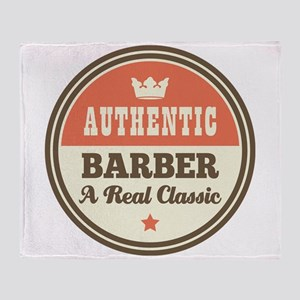 Barber Vintage Throw Blanket