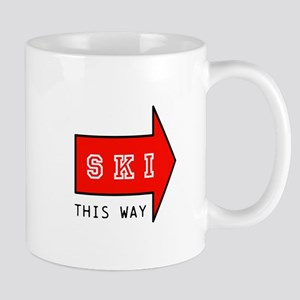 SKI THIS WAY Mugs