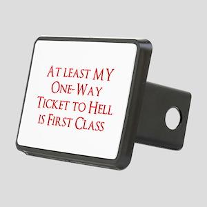 First Class Hell Rectangular Hitch Cover
