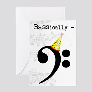 Music Bass Greeting Cards