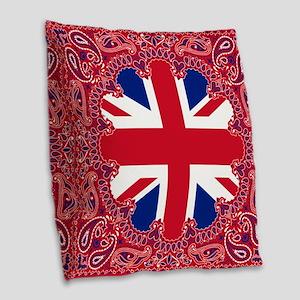Union Jack Burlap Throw Pillow