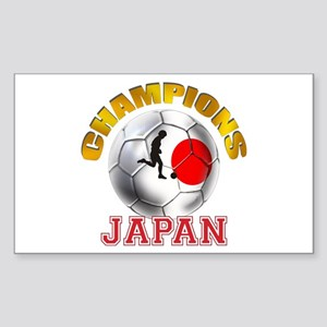 Japanese Soccer Sticker (Rectangle)