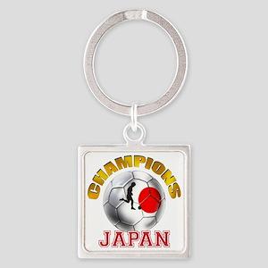 Japanese Soccer Square Keychain