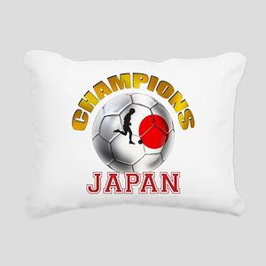Japanese Soccer Rectangular Canvas Pillow