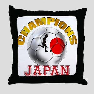Japanese Soccer Throw Pillow
