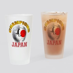 Japanese Soccer Drinking Glass