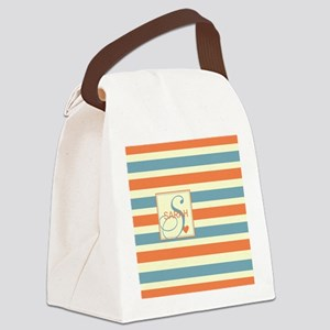Mid-Tone Stripe Monogram - Personalized Canvas Lun