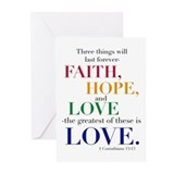 Faith hope and love Greeting Cards (20 Pack)